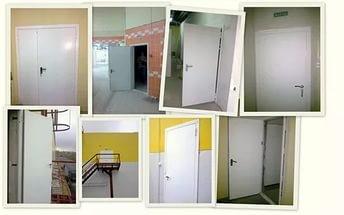 Установка дверей противопожарных металлических в Москве, монтаж противопожарных дверей